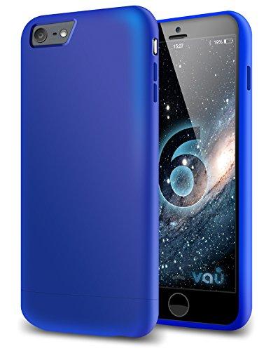 vau Snap Hülle Slider matt Blue - zweigeteiltes Hard-Hülle kompatibel zu Apple iPhone 6 (Hülle blau hart mit Innenfutter)