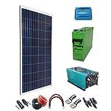 Kit Solar PlusEnergy 12V 300W/1.500W Día + Regulador de carga PWM 20A + Batería AGM TFS-250AH + Inversor 3000w onda pura