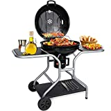 Griglia Barbecue Carbone, Barbecue a Carbonella Giardino Bbq Grill Carbone 58cm Di Diametro Kettle...