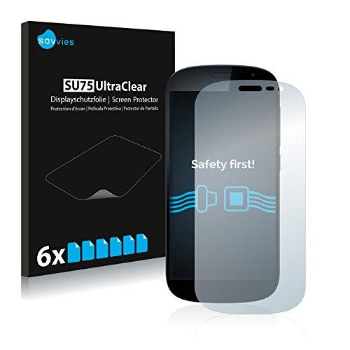 Savvies 6X Schutzfolie kompatibel mit Yota Devices YotaPhone 2 Bildschirmschutz-Folie Ultra-transparent