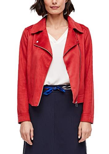 s.Oliver RED Label Damen Bikerjacke in Veloursleder-Optik red 38