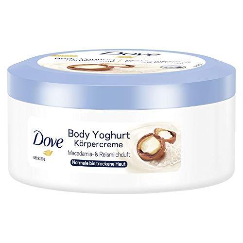 Dove Body Yoghurt Körpercreme mit Macadamia- und Reismilchduft, 250 ml