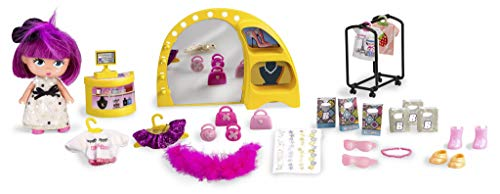 Barriguitas - La Cuqui Tienda, con 1 muñeca, para niños y niñas de 4 a 8 años (Famosa 700014767)