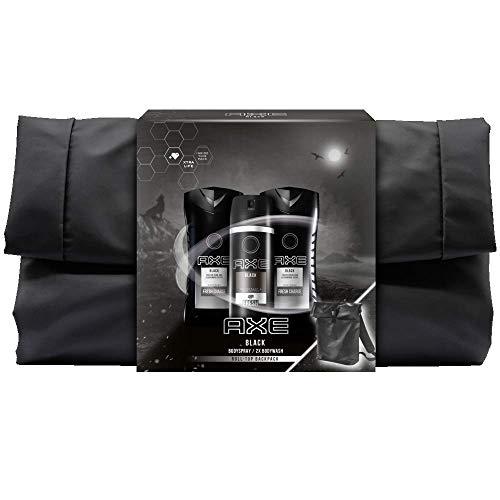 Axe Geschenkset Black für eine intensive Erfrischung mit Deospray, 2x Duschgel und Rucksack (150 ml + 2x 250 ml)