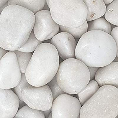 """Midwest Hearth Natural Decorative Polished White Stones 1"""" to 2"""" Size (10-lb Bag)"""