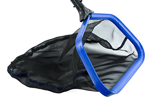 "ATIE PoolSupplyTown Professional Grade Heavy Duty 17.5"" Inch Pool Leaf Skimmer Net Rake w/Aluminum Frame & Deep Durable Nylon Net"