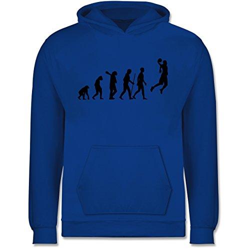 Shirtracer Evolution Kind - Basketball Evolution - 152 (12/13 Jahre) - Royalblau - Basketball Hoodie Kinder - JH001K - Kinder Hoodie