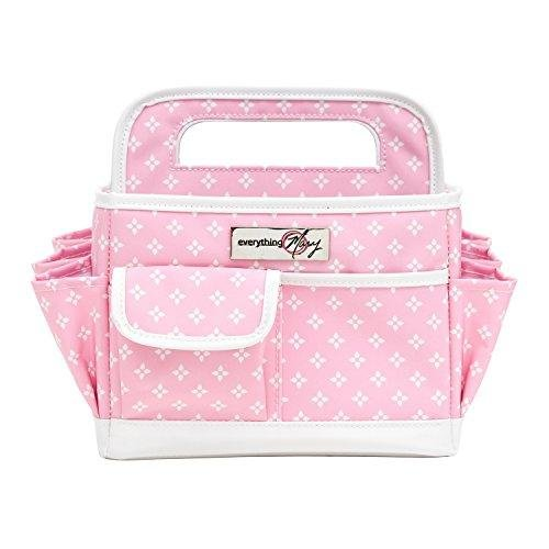 Everything Mary Pink Desktop Tote Storage Organizer - Bin for Tools, Crafts, Home, Garage, Make-Up, Office Desk, Nursery - Tote for Crafts, Brushes, Thread, Arts and Craft Supplies for Travel