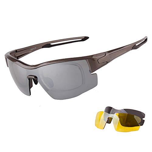 CZSM Gafas de Sol Gafas de Seguridad, Lentes polarizadas, Outlook Ciclismo Deportivo Protector, Anti-vaho y antiarañazos, UV400