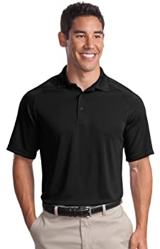 SPORT-TEK Men s Dry Zone Raglan Polo M Black