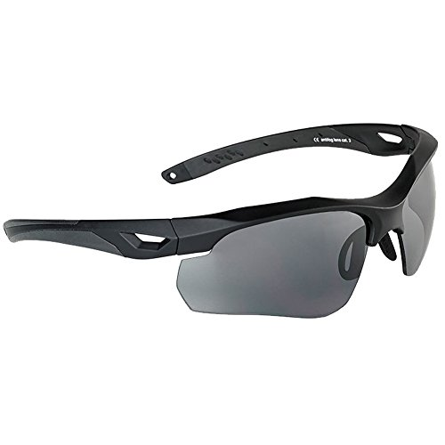 Swiss Eye Skyray Sonnenbrille 2 Austauschbare Objektive Schwarz Gummirahmen