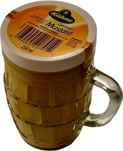 Kuhne Taza de cristal tradicional suave y suave con mostaza alemana en jarra de cerveza de 250 ml x 1