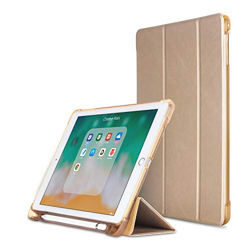 YYLKKB For iPad Air 4 10.9 2020 TPU Cover Soft Case For iPad Air 2020 4th generation Tablet Transparent Back Case without Pencil-Gold_for Air 1 9.7 inch