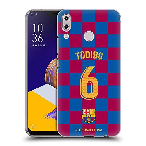 Officiële FC Barcelona Jean-Chair Todibo 2019/20 Spelers Home Kit Groep 2 Hard Back Case Compatibel voor Asus Zenfone 5z ZS620KL / 5 ZE620KL