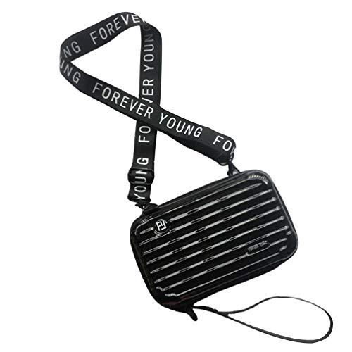 ZYCX123 Portable Solo Hombro Diagonal Span Bolsa pequeña Lateral Travel Pack PC Impermeable del Maquillaje Caso Mini Equipaje Neceser con divisores Ajustables Suministros Negro de Belleza