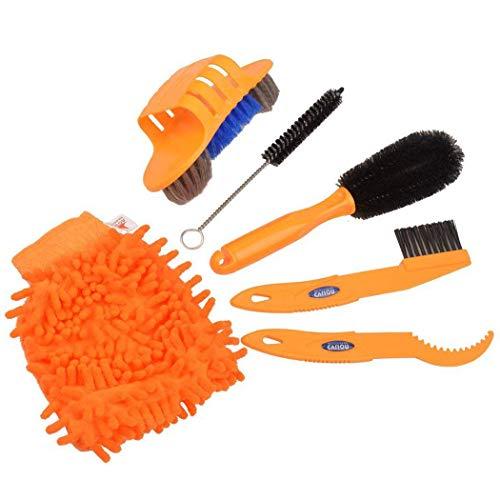 LANGING 6 Stks Bike Cleaning Kits Fiets Clean Brush Chain Cleaner Banden Borstels met Bike Cleaning Handschoenen