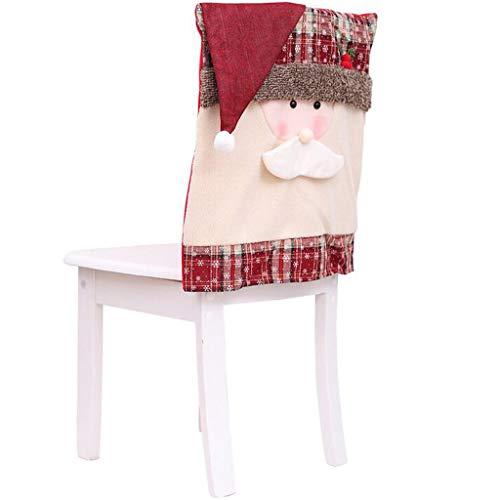 MRULIC Weihnachtliche Stuhlhussen Nikolaus Snowman Schneeflocken Moderne Stuhl Hussen Set Abnehmbare Dekoration Stuhlabdeckung FüR Esszimmer Party Hotel Restaurant Deko Weihnachten Dekorative(B1)
