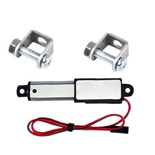 NaisiCore Actuador Lineal eléctrico Mini Impermeable con Soportes de Montaje 12V 30N Velocidad de 30 mm Longitud 30 mm Micro para el Coche Auto