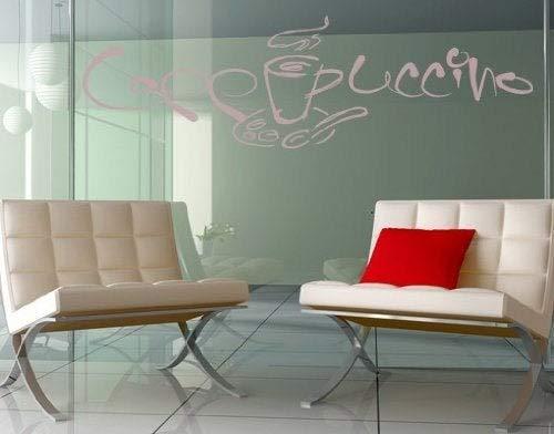 Cappuccino glazen muursticker, muursticker, muurschildering, muurschildering, eenvoudig aan te brengen en te verwijderen