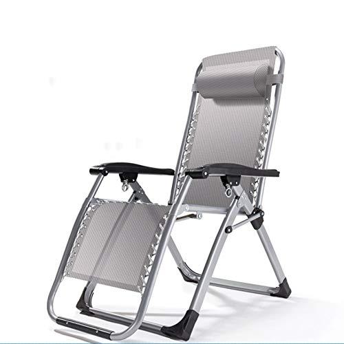 HAOLIN Terrassenstühle Liegen Für Schwere Menschen Sonnenliege Schwerelosigkeit Stuhl Für Outdoor Camping Camping Tragbare Stühle,Grey