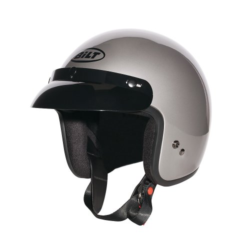 CUSTOM BILT Jet Open-Face Motorcycle Helmet - MD, Pearl Gray