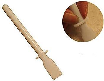 Preamer 3Pcs DIY Leather Craft Round Flat Ebony Wood Edge Slicker Burnisher Tools Set