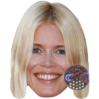 Celebrity Cutouts Claudia Schiffer Maske aus Karton