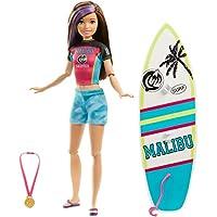 Barbie- Dreamhouse Adventures, Skipper Hora del Surf Muñeca con accesorio de deportes, Multicolor (Mattel GHK36)