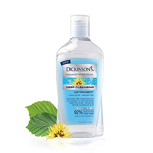 Price comparison product image Dickinson's Enhanced Witch Hazel Deep Cleansing Astringent,  Menthol and Eucalyptus,  92 % Natural Formula,  16 Fl. Oz.