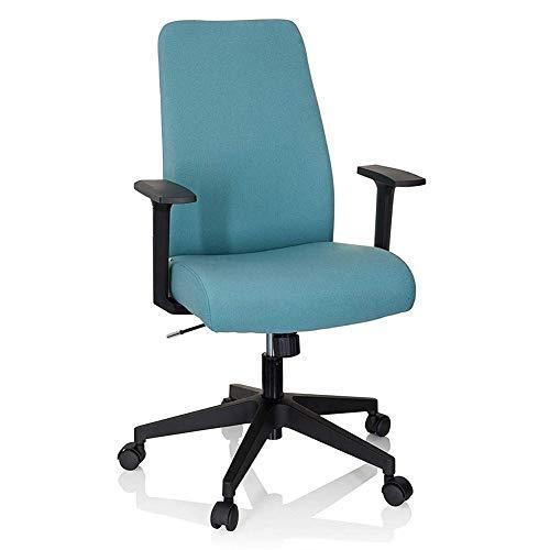QIDI - Schreibtischstuhl mit orangefarbenem gepolstertem Sitz, ergonomische Rückenlehne, neigbarer Drehstuhl, höhenverstellbar (Farbe: Türkis).