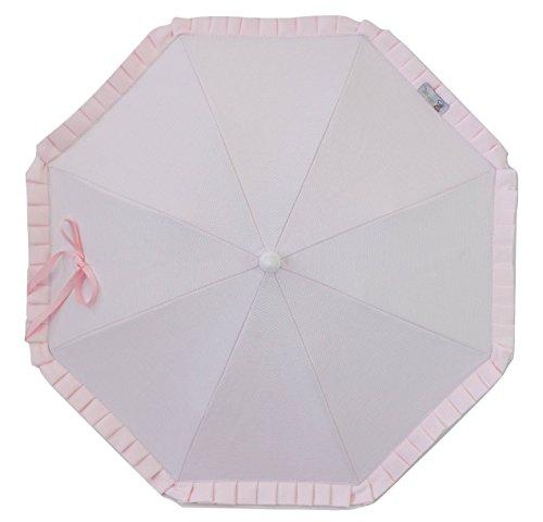 Sonnenschirm für Kinderwagen mit UV-Sonnenschutz+Universaler Flexo (Hellrosa)