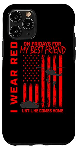 iPhone 11 Pro Red Friday Best Friend Military Remember Deployed USA Flag Case