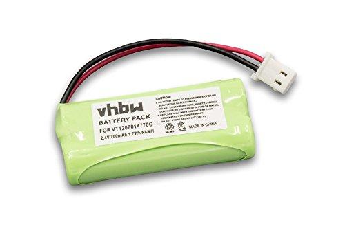 vhbw Batería NiMH 700mAh (2.4V) para Babyphone, monitor de bebés, vigila bebés Motorola MBP20, MNP28 como VT1208014770G.