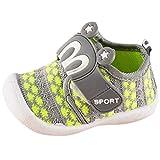 Dorical Unisex Baby Quietsche Schuhe Hasenohren Squeaky Krabbelschuhe für Jungen und Mädchen, Cartoon Anti-Rutsch-Schuhe Soft Sole Lauflernschuhe Sneakers Größe 6-36 Monate (21 EU, Grün)
