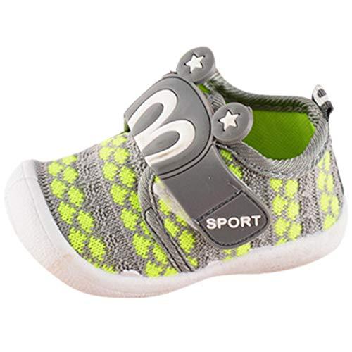 Dorical Unisex Baby Quietsche Schuhe Hasenohren Squeaky Krabbelschuhe für Jungen und Mädchen, Cartoon Anti-Rutsch-Schuhe Soft Sole Lauflernschuhe Sneakers Größe 6-36 Monate (17 EU, Grün)