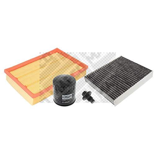 Mapco 68842 Filtersatz Luftfilter Ölfilter Aktivkohlefilter Ölablaßschraube