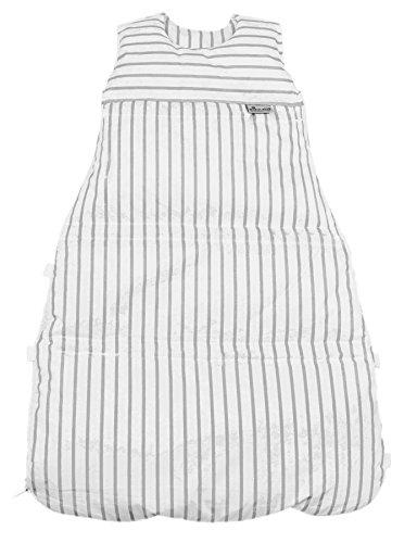 Climarelle Daunenschlafsack, längenverstellbar, Alterskl. ca 3-20 Monate, Streifen weiss-grau, 80 cm