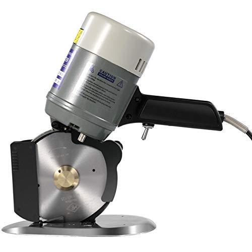 VEVOR Coupeur Rotatoire de Tissu de 125mm, Machine Tissu Cutter, Ciseaux Electriques Découpeuse de Tissu, électrique portable Chiffon 220V 250W, pour le coton