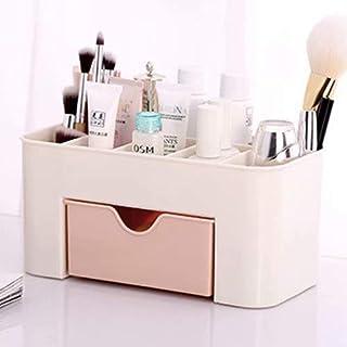 LINSUNG Tiroir de Rangement Bureau Maquillage Cosmétique Supports Boîte économiser de l'espace (Big,Rose)