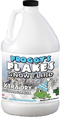 Froggys Flakes - Extra Dry Snow Juice - Snow Machine Fluid - Evaporative Formula - 1 Gallon