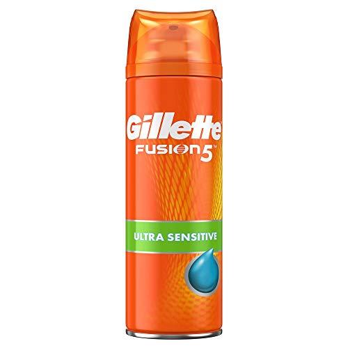 Gillette Gel à Raser Homme Fusion5 Ultra, Formule Peaux Sensibles , Rasage Impeccable et Confortable, 200 ml