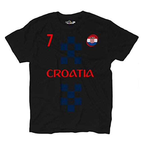 KiarenzaFD - Camiseta de la selección de fútbol de Croacia, número 7, Rakitic...