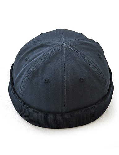 ZYT Homme Rétro Décontracté Coton Bonnet/Crochet Beret Chapeau Melon/Cloche Borsalino Capeline Ski,Solide Toutes Les Saisons Style, Green, One-Size