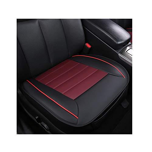 GUOCU Sitzbezüge Auto Sitzauflage Sitzkissen Auto Abdeckung für Vordersitz mit PU Leder,Schwarz Rot,Vordersitz