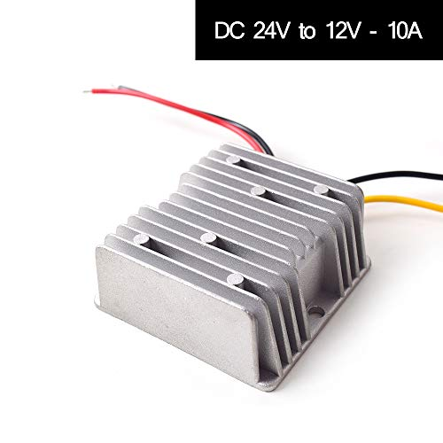 Auto DC 24V auf 12V Spannungswandler 10A 120W Transformator Wandler Konverter Trafo Adapter für Auto Motor PKW LKW Kfz Boot Fahrzeug Solar System etc.(DC15-40V Eingänge)