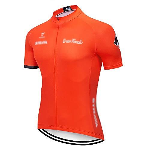 TMY Jersey de Ciclo Strava Ciclismo Jersey Manga Corta Conjunto Maillot Ciclismo Uniformes de Secado rápido de la Bici MTB Ropa Jersey (Color : C15, tamaño : XL)