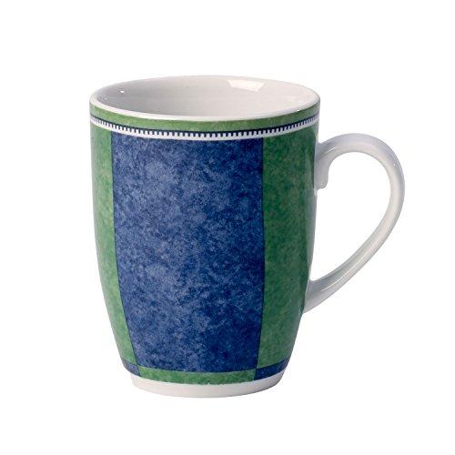 Villeroy & Boch Switch 3 Costa Kaffeebecher, 350 ml, Höhe: 10,5 cm, Porzellan, Weiß/Blau/Grün