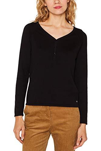 ESPRIT Damen 109Ee1I016 Pullover, Schwarz (Black 001), Small (Herstellergröße: S)