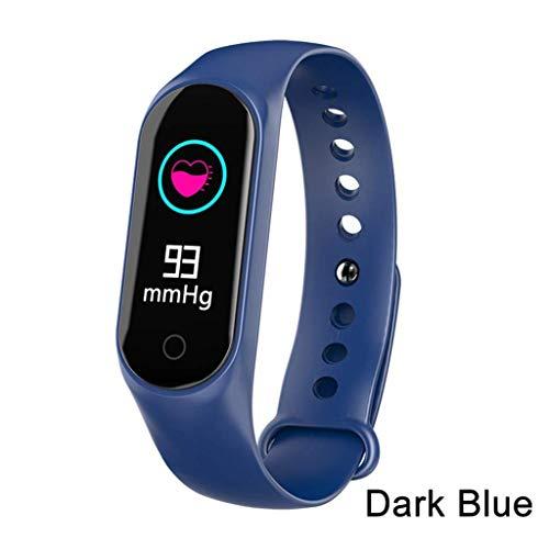 Cajolg Fitnesstracker, IP67 waterdicht, met bloeddruk, hartslag, calorieën, stappenteller en andere functies, ondersteunt meerdere talen, dames en heren fitness armband horloge blauw