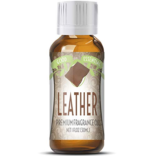 Leather Scented Oil by Good Essential (Huge 1oz Bottle - Premium Grade Fragrance Oil) - Perfect for Aromatherapy, Soaps, Candles, Slime, Lotions, and More!